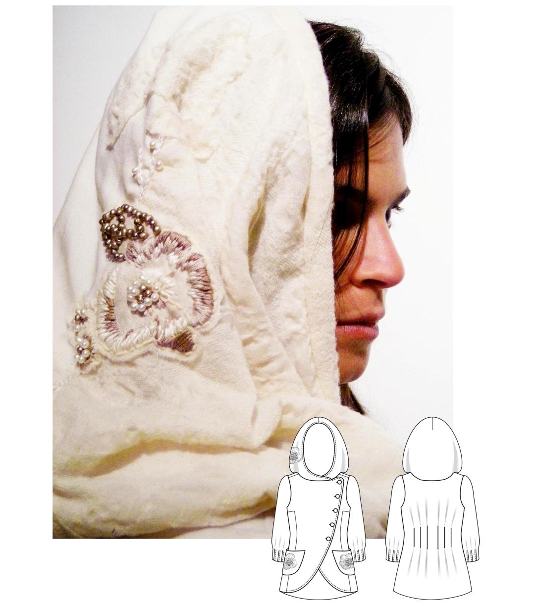 Embroidered Hood